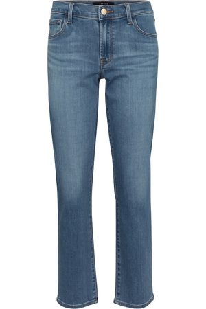 J Brand Mid-Rise Straight Jeans Adele