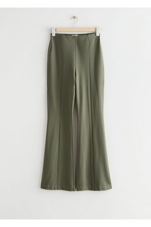 & OTHER STORIES Flared Trousers - Green