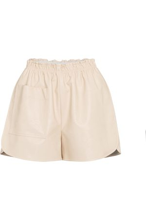 Stella McCartney Shorts aus Lederimitat