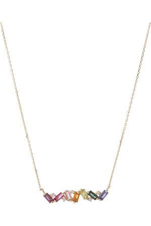 Suzanne Kalan Halskette Frenesia Rainbow aus 18kt Gelbgold