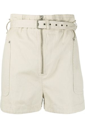 Isabel Marant Shorts mit Paperbag-Taille - Nude