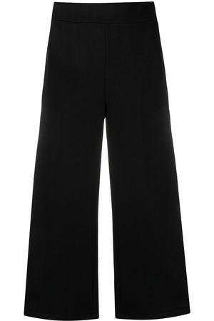 Karl Lagerfeld Cropped-Hose mit Logo-Tape