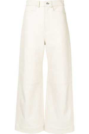 PROENZA SCHOULER WHITE LABEL LIGHTWEIGHT LEATHER CULOTTES - Nude