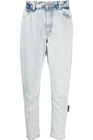 OFF-WHITE Tapered-Cropped-Jeans
