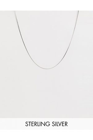 ASOS – Silberfarbene Halskette aus Sterlingsilber