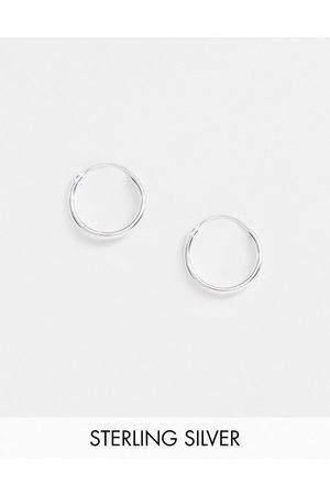 ASOS – Silberne Creolen aus Sterlingsilber, 12 mm