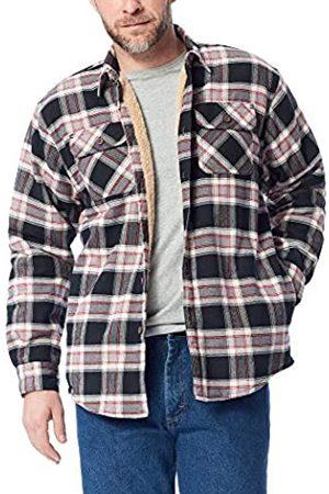 Wrangler Wrangler Herren Long Sleeve Sherpa Lined Flannel Shirt Jacket Button Down Hemd