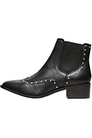 SELECTED Damen SLFELLEN Stud Leather Boot B Stiefel, Black