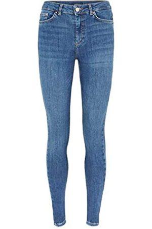Pieces PIECES Female Slim Fit Jeans Mid Waist XL32Medium Blue Denim