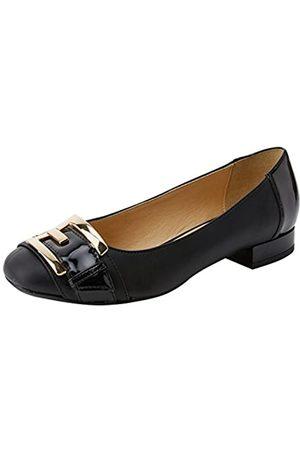 Geox Damen D WISTREY E Geschlossene Ballerinas, (Black)