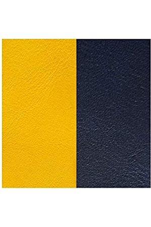 Les Georgettes Les Georgettes Uhrenarmband 14mm Leder gelb / dunkelblau