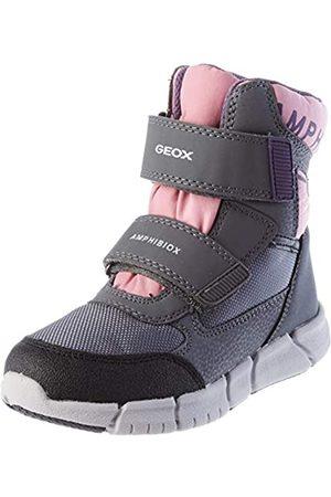 Geox J FLEXYPER GIRL B AB Snow Boot, Grey/Rose