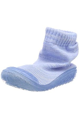Playshoes Playshoes Jungen Unisex Kinder Socke gestrickt Hohe Hausschuhe, Blau (Bleu 17)