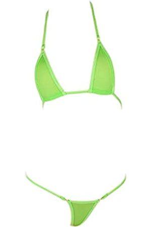 LinvMe Damen Extreme Sexy Hot Silk Micro Bikini Set Mini String Bademode - - Einheitsgröße