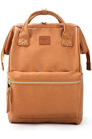 Kah&Kee Kah&Kee Leder Rucksack Wickeltasche mit Laptopfach Travel School für Damen (Kamel Beige