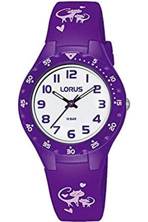 Lorus Lorus Mädchen Analog Quarz Uhr mit Silicone Armband RRX53GX9