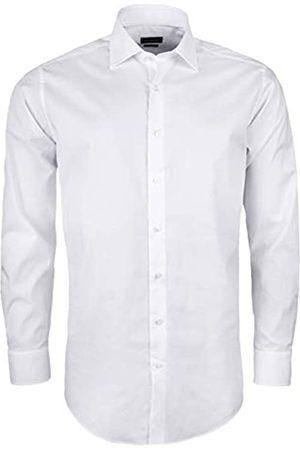 Roy Robson Herren Hemd aus Baumwolle Regular Fit Langarm Bügelleicht natürlicher Stretch (