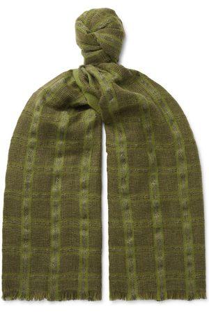 Loro Piana Herren Schals - Checked Linen and Cashmere-Blend Tweed Scarf