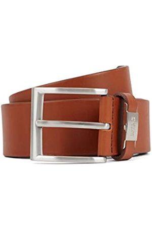 HUGO BOSS Herren Connio Ledergürtel mit Metall-Logo an der Schlaufe