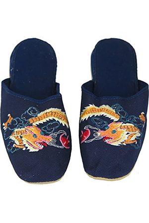Generic Handgefertigte bestickte Drache Chinesische Damen Baumwolle Hausschuhe