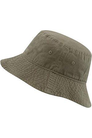 The Hat Depot Fischerhut aus 100 % Baumwolle mit langer Krempe und tiefer verstaubarer Sommer-Reise. - Grün - L/XL