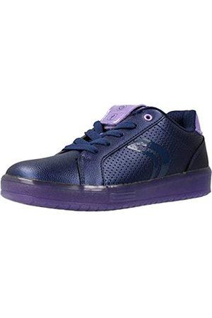 Geox Geox Mädchen J KOMMODOR Girl A Sneaker, Blau (Navy/Violet C4267)