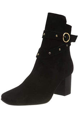 SELECTED Damen SLFZOEY Suede Stud Boot B Heels, Black
