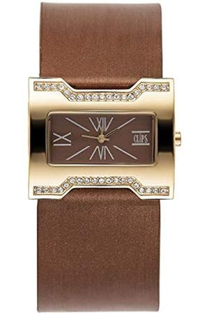 CLIPS Clips Damen Analog Uhr mit Leder Armband