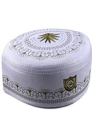 Alwee Alw005 Muslimische Gebetsmütze für Herren, Islam Kufi Kopfbedeckung, Totenkopf-Mütze