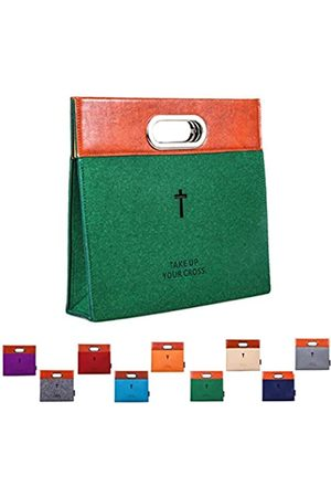AGAPASS AGAPASS Bibeltragetasche, Handtasche aus Filz, Bibelhülle für Frauen, Herren, Bibeltragetasche, geschnitztes Kreuz Heilige Reißverschluss, Bibeltasche, Ledertasche, Kirchentasche