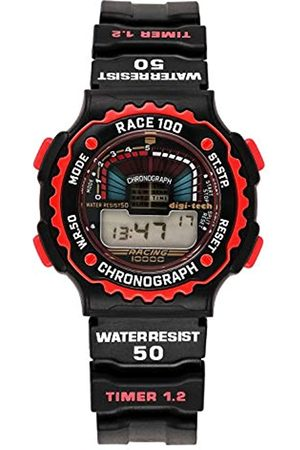 Digi-Tech Digi-Tech Herren-Armbanduhr Chrono Race Digital Quarz Kautschuk DT102914