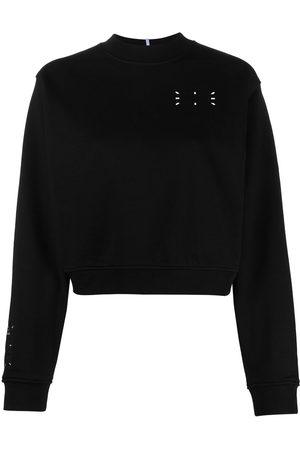 mcq swallow Chest logo print sweatshirt