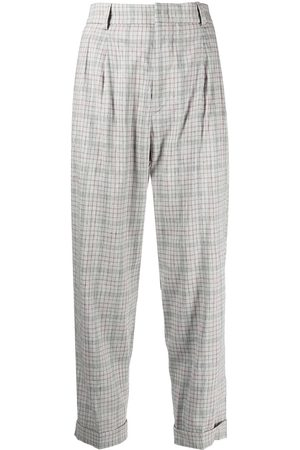 Isabel Marant Checked cropped trousers