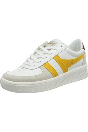 Gola Damen Grandslam Classic Sneaker, White/Sun/Burgundy