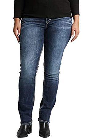 Silver Silver Jeans Co. Damen Plus Size Suki Curvy Fit Mid Rise Straight Leg Jeans