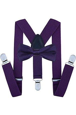 traderplus Herren elastische Hosenträger und Fliege Set für Hochzeit