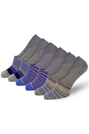 Easton Marlowe Sneaker Socken Herren & Damen 6 Paar Füßlinge mit Silikonpad Rutschfest Baumwolle Blau Helle Farben 43-46#5-1