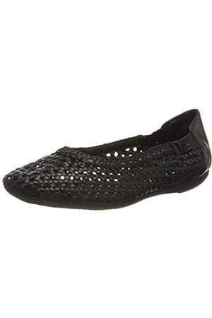 Marc Damen Shoes Schuhe Ballerina Janine Flechtballerina Leder (Scheep Nappa Black