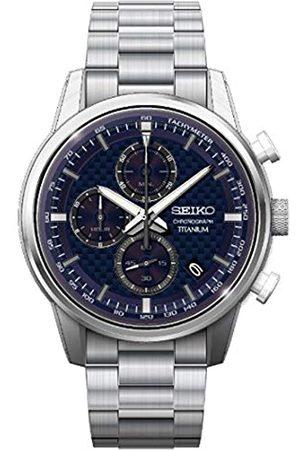 Seiko Seiko Herren Analog Quarz Uhr mit Metall Armband SSB387P1