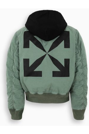 OFF-WHITE ™ Green/black bomber jacket with Arrows print