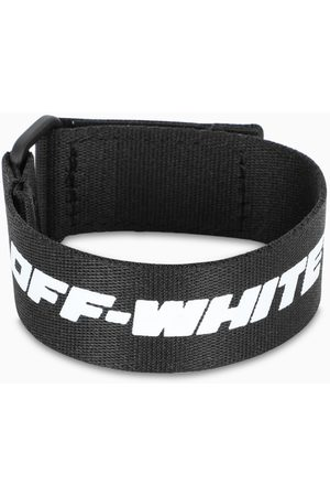 OFF-WHITE ™ Black bracelet with logo print