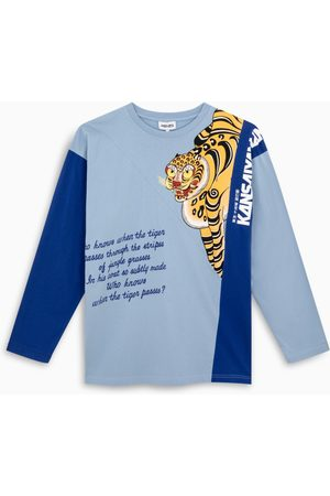 Kenzo Blue/light blue long sleeves t-shirt with print
