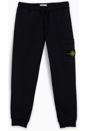 Stone Island Blue joggers with logo label