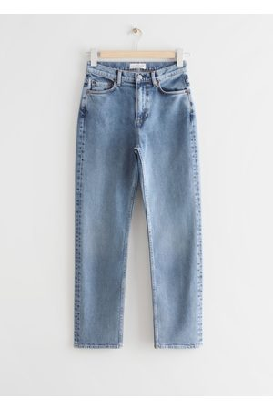& OTHER STORIES Damen Cropped - Favourite Cut Cropped - Blue