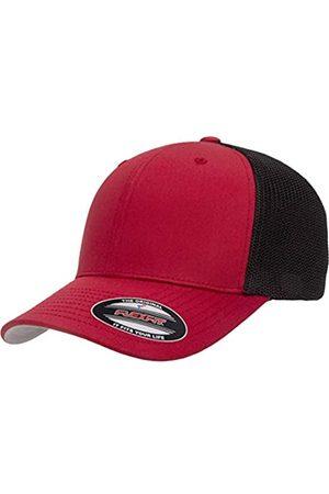 Flexfit Flexfit Unisex-Erwachsene Trucker Mesh Fitted Cap-2-Tone Kappe, rot/schwarz