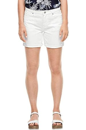 s.Oliver S.Oliver Damen Regular Fit: Weiße Jeanshorts White Denim Stretc 40