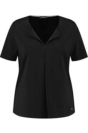 Samoon Damen Shirt aus Fester Jersey-Qualität leger Black 40/42