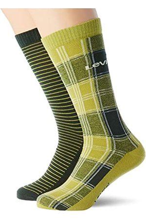Levi's Unisex-Adult Positive Plaid Regular Cut (2 Pack) Sock