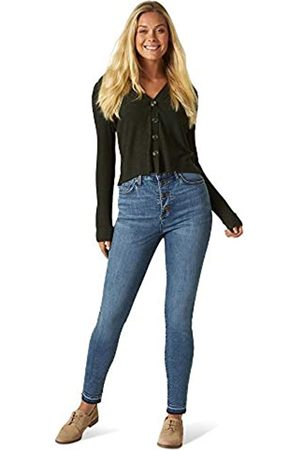 Lee Lee Damen Slim Fit High Rise with Button Fly & Released Hem Jeans