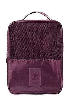 EVERDESIGN Mehrfarbige Schuhaufbewahrung, Reisetasche, wasserdichte Organizer-Tasche mit Reißverschluss, (weinrot)